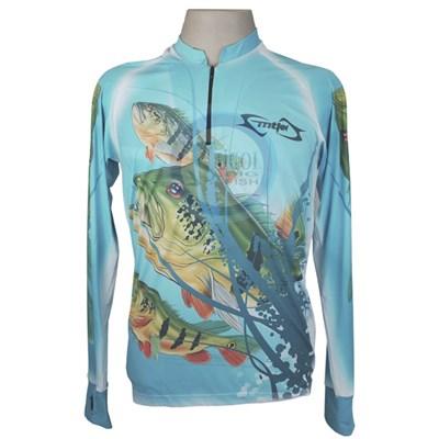 Camiseta MTK Eco Bio c/ziper Azul (G)