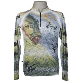 Camiseta MTK Eco Bio c/ziper Cinza (M)