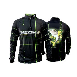 Camiseta Rock Fishing Dry 50 UV Black Green