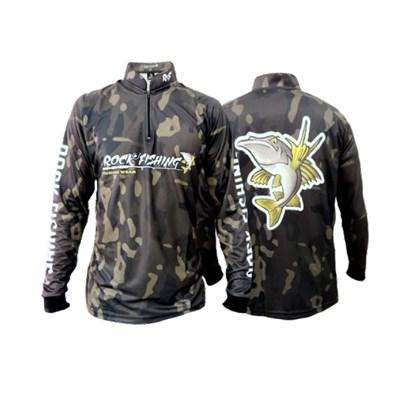 Camiseta Rock Fishing Dry 50 UV Camuflado military I