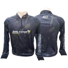 Camiseta Rock Fishing Dry 50 UV Camuflado military II