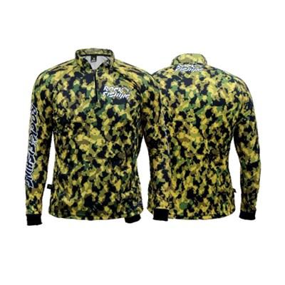 Camiseta Rock Fishing Dry 50UV Camuflado Jungle