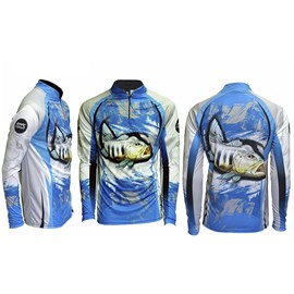 Camiseta Rock Fishing Dry River Tucuna Azul