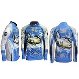 Camiseta Rock Fishing Dry River Tucuna Azul