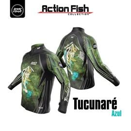 Camiseta Rock Fishing DRY (Tucunaré azul)