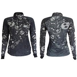 Camiseta Rock Fishing Feminina 50UV Maori (Black Skull)
