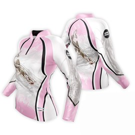Camiseta Rock Fishing Feminino Dry River Cachara Rosa