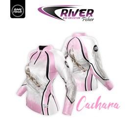 Camiseta Rock Fishing Feminino Dry River Cachara Rosa
