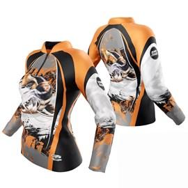 Camiseta Rock Fishing Feminino Dry River Pirarara