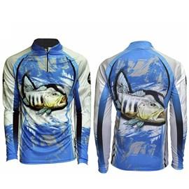 Camiseta Rock Fishing Infantil Dry River Tucuna Azul