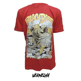 Camiseta Rock Fishing Zumbi Bass - Vermelho