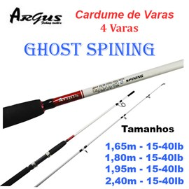 CARDUME DE VARAS - ARGUS GHOST - 4 VARAS
