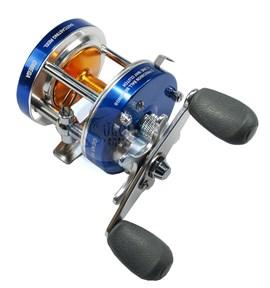 Carretilha Albatroz OMEGA 50L - Azul - 2Rol - Veloc 5.2:1 - Maniv Esquerda
