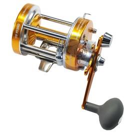 Carretilha Albatroz Omega 60L Dourado 3 Rolamentos (Esquerda)