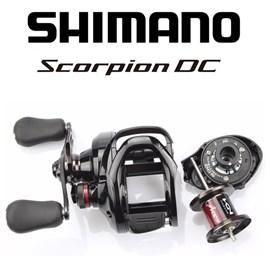 Carretilha Shimano Scorpion DC101HG - 8Rol - Veloc 7.2:1 - Maniv Esquerda