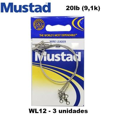 CHICOTE MUSTAD WL20 20LBS - C/3 - GIRADOR / SNAP