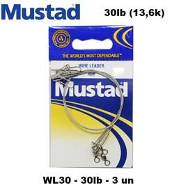 CHICOTE MUSTAD WL30 -  30LBS - C/3 - GIRADOR / SNAP