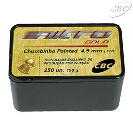 Chumbo CBC® Nitro Gold - Pointed 4,5mm (250 un.)