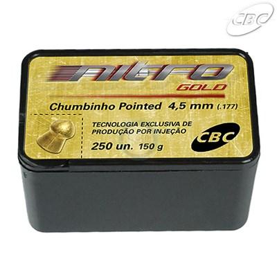 Chumbo CBC® Nitro Gold - Pointed 4,5mm (250 un.)