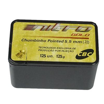 Chumbo CBC Nitro Gold Pointed 5,5mm (125 un.)