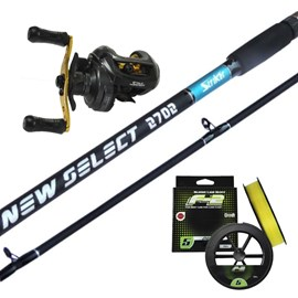 Conjunto de Vara Striker New Select 9'0''(2,70m) + Carretilha Star River Sephia GTO (Direita) + Brinde