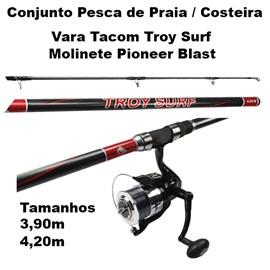 Conjunto Pesca de Praia e Costeira - Vara + Molinete