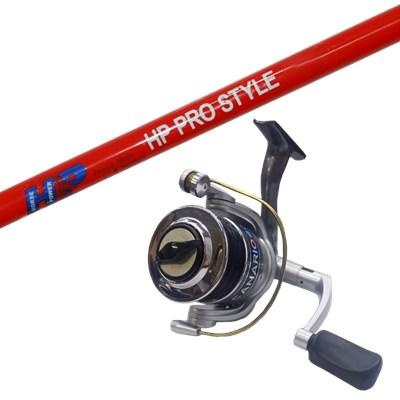 Conjunto Vara HP Pro Style 1502 (1,50m) 18lb + Molinete Albatroz Canário 30 + c/ Linha