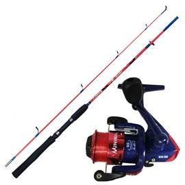Conjunto Vara Plusfish Minimal 1,37m + Molinete Minimal 200 (Vermelho)