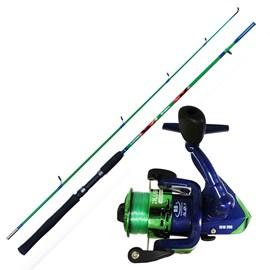 Conjunto Vara Plusfish Minimal 1,52m + Molinete Minimal 200 (Verde)