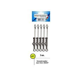 Encastoado Barão Aço Inoxidavel Rigido - 18X07 - 481 - C/5 Un