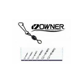 Girador Owner c/ Snap Hooked Swivel 52567 - N-01 - 101lb(46kg) - c/5 un