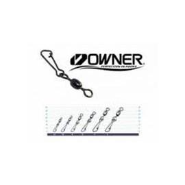Girador Owner c/ Snap Hooked Swivel 52567 - N-04 - 79lb(36kg) - c/7 un