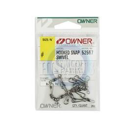 Girador Owner c/ Snap Hooked Swivel 52567 - N-08 - 46lb(21kg) - c/9 un