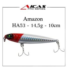 Isca Aicas Pro Series Amazon - 14,5g - 10cm - HA53 - Cabeça Vermelha