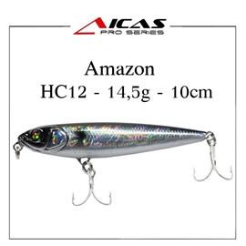 Isca Aicas Pro Series Amazon - 14,5g - 10cm - HC12 - Holografico Preto