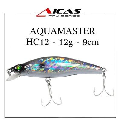 Isca Aicas Pro Series Aquamaster - 12g - 9cm - HC12 - Holografico Preto