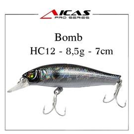 Isca Aicas Pro Series Bomb - 8,5g - 7cm - HC12 - Holografico Preto