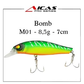 Isca Aicas Pro Series Bomb - 8,5g - 7cm - M01 - Fire Tiger