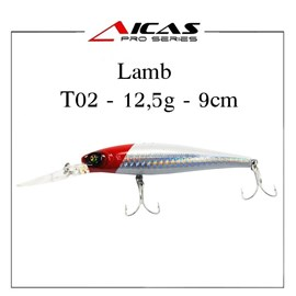 Isca Aicas Pro Series Lamb - 12,5g - 9cm - HA53 - Cabeça Vermelha
