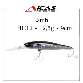 Isca Aicas Pro Series Lamb - 12,5g - 9cm - HC12 - Holografico Preto