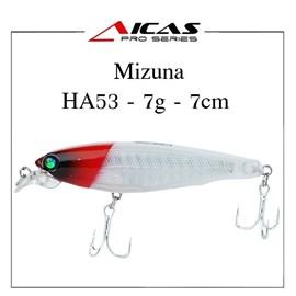Isca Aicas Pro Series Mizuna - 7g - 7cm - HA53 - Holografica Branca Cabeca Vermelha