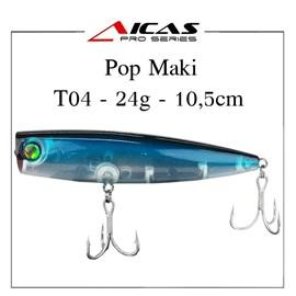 Isca Aicas Pro Series Pop Maki - 24g - 10,5cm - T04 - Holografica Dorso Azul