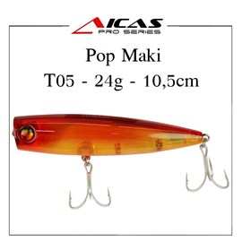 Isca Aicas Pro Series Pop Maki - 24g - 10,5cm - T05 - Dourado
