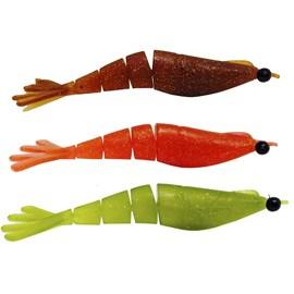 Isca Big Ones camarão Twister 10cm C/ 3 Unidades