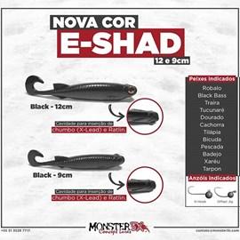 Isca Monster 3X Soft Bass E-Shad 12cm Black c/5 un
