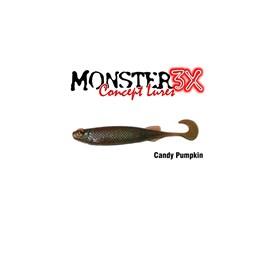 Isca Monster 3X Soft Bass E-Shad 12cm Candy Pumpkin c/5 un