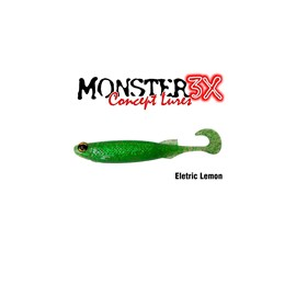 Isca Monster 3X Soft Bass E-Shad 12cm Lemon c/5 un