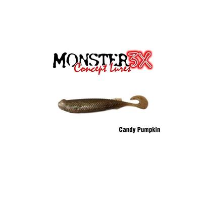 Isca Monster 3X Soft Bass E-Shad 9cm Candy Pumpkin c/5 un