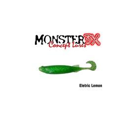 Isca Monster 3X Soft Bass E-Shad 9cm Eletric Lemon c/5 un