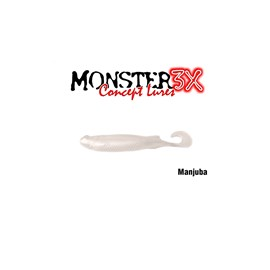 Isca Monster 3X Soft Bass E-Shad 9cm Manjuba c/5 un